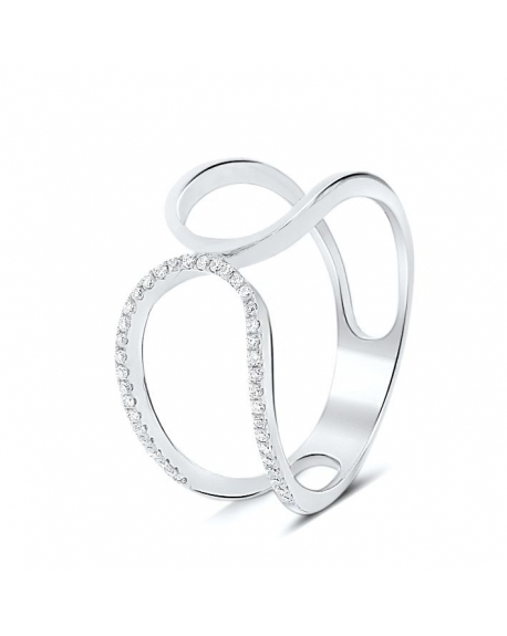 Prater Ring in 18k White Gold