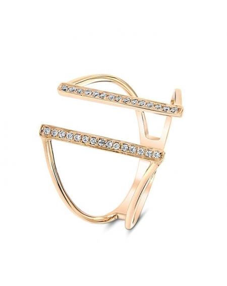 Bridge Ring in 18k Rose Gold