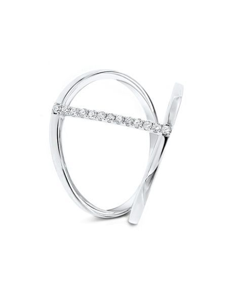 Allina's Diamond Ring in 18k White Gold (0.10ct)
