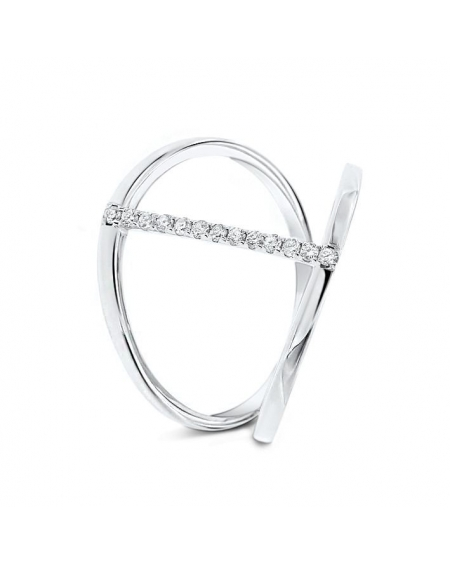 Allina's Ring in 18k White Gold