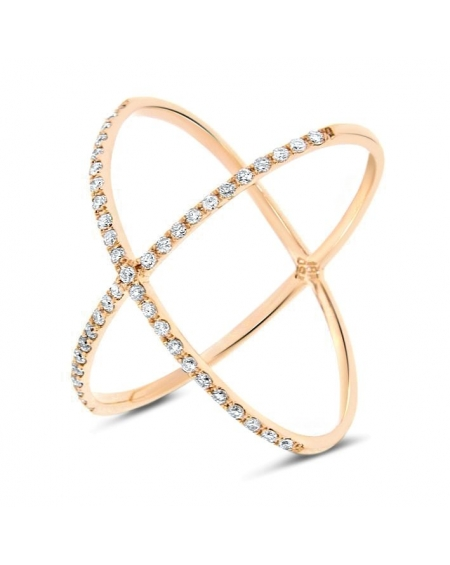 Crisscross Ring in 18k Yellow Gold