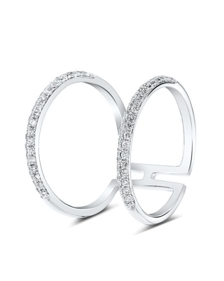 Chloe Ring in 18k White Gold