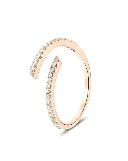 Spiral Diamond Ring in 18k Rose Gold (0.21ct)