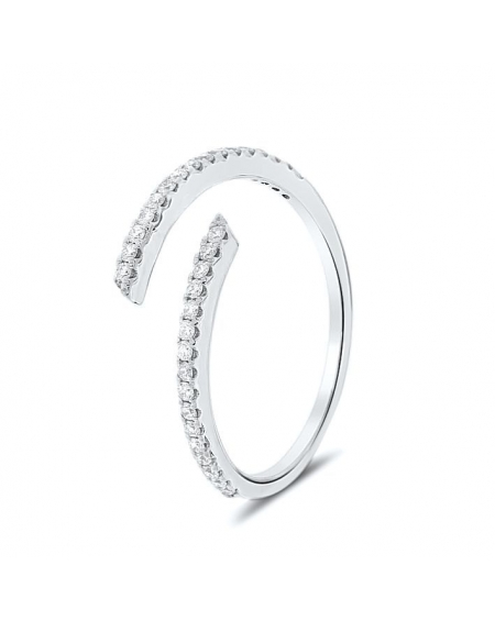 Spiral Ring in 18K White Gold