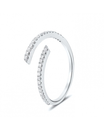 Spiral Diamond Ring in 18K White Gold (0.21ct)