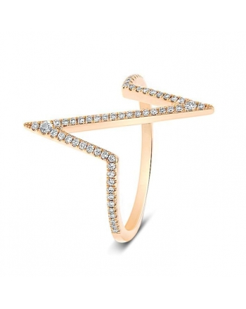 Heartbeat Diamond Ring in 18k Rose Gold (0.20ct)
