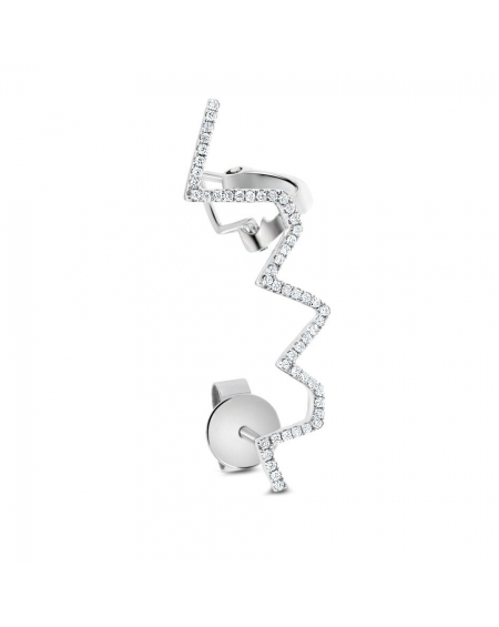 Jessi Earring in 18k White Gold