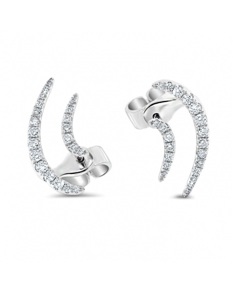 diamond tw ct gold stud in round earrings white