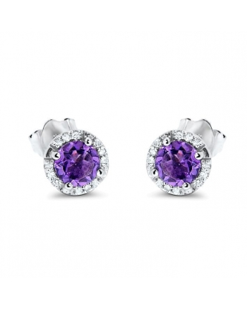 Martini Glass Amethyst Earrings