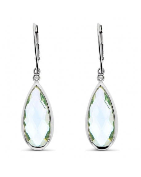 Tear Drop Earrings in 14k White Gold
