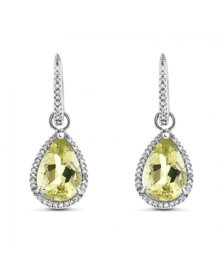 Drop Earrings in 14k White Gold