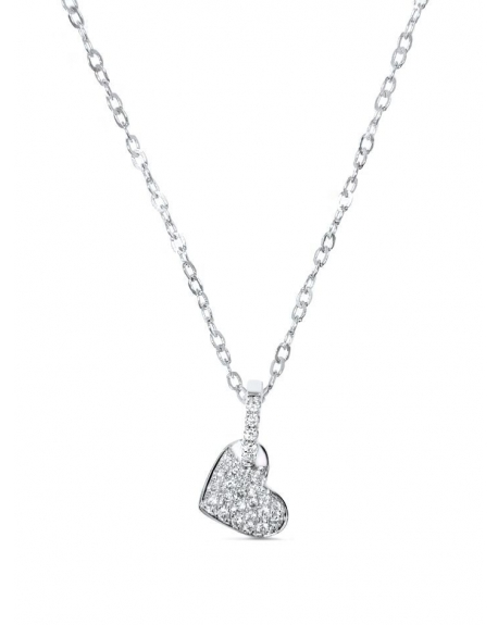 Heart Necklace in 18k white gold