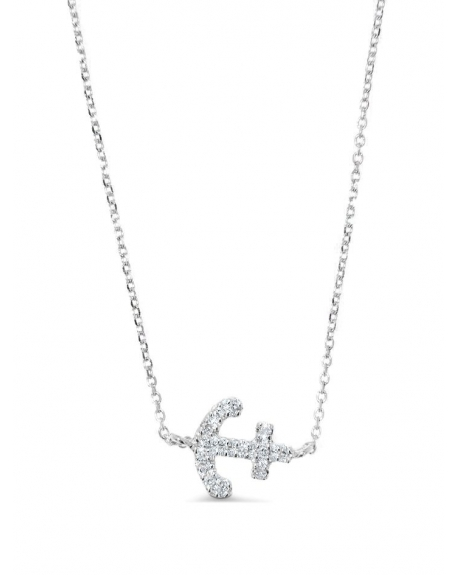 Anchor Necklace in 14k white gold