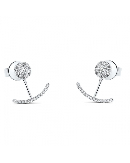 Leslie Earrings in 18k White Gold