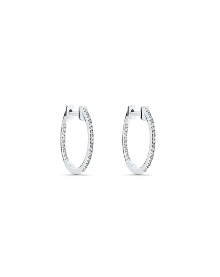 Small Hoops in 18k White Gold