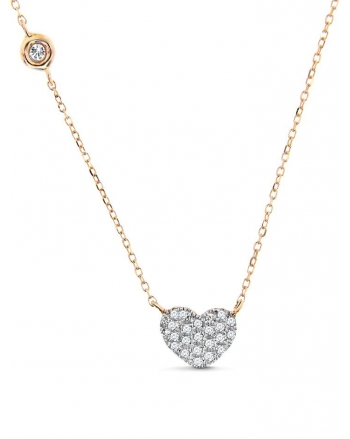 Heart Necklace in 14k rose gold