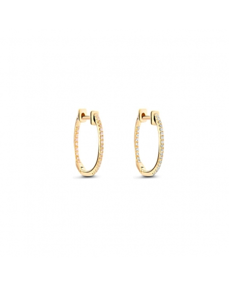 Small Hoops in 18k Yellow Gold