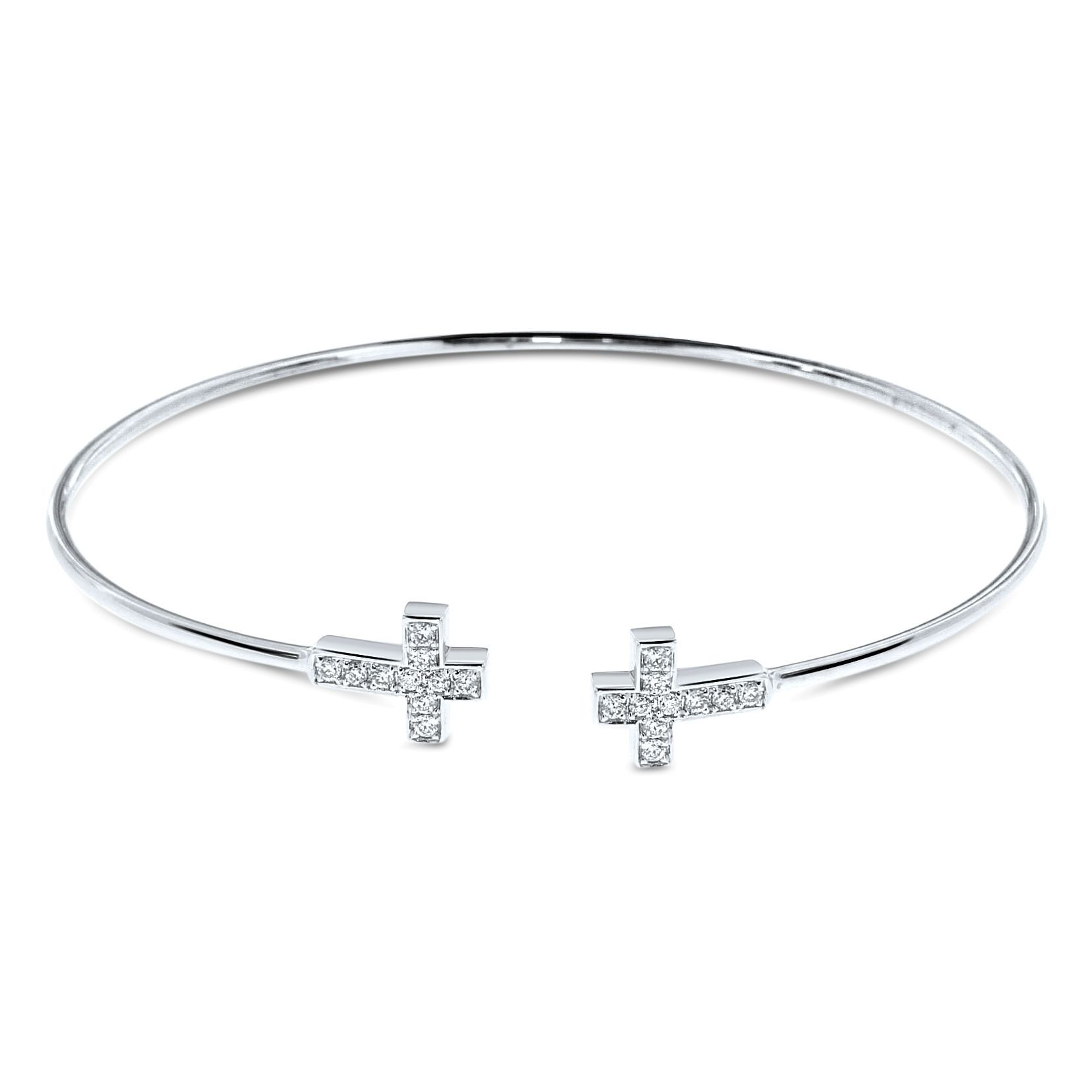 infinity cross bangles product silver tiny and bracelet gold bangle new or original