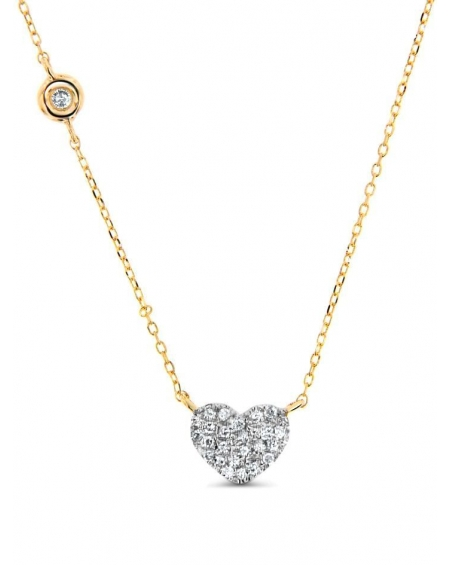 Heart Necklace in 14k yellow gold