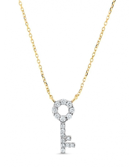 Key Necklace in 14k yellow gold