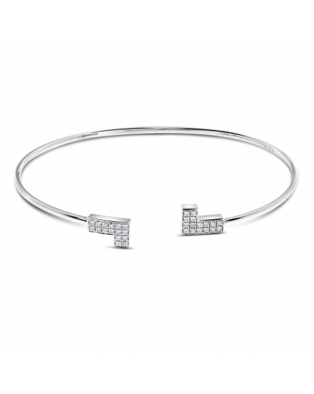 Bangle Bracelet in 18k White Gold