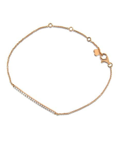 Bar Bracelet in 18k Rose Gold