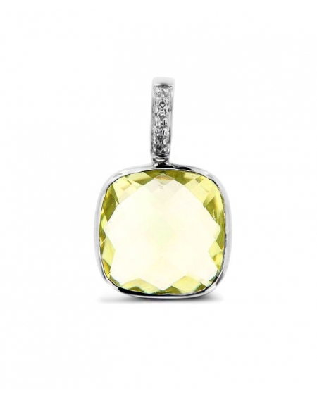 Lemon Pendant in 14k white gold
