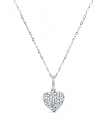 Puffy Heart in 18k white gold