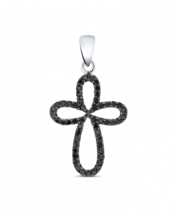 Diamond Cross Pendant in 14k white gold (.23ct)