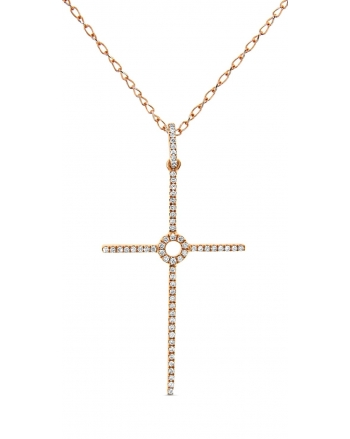 Cross Necklace in 18k rose gold