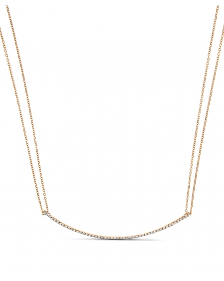 Diamond Bar Necklace in 18k rose gold