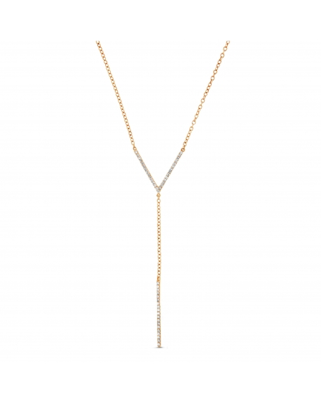 Lariat Necklace in 18k rose gold
