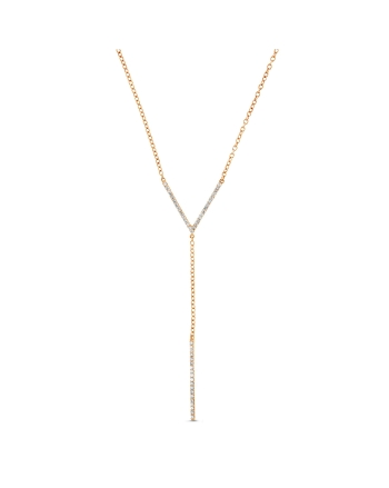 Diamond Lariat Necklace in 18k rose gold