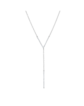 Diamond Lariat Necklace in 18k white gold