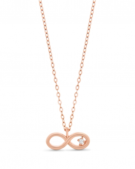 Infinity Necklace in 14k Rose gold
