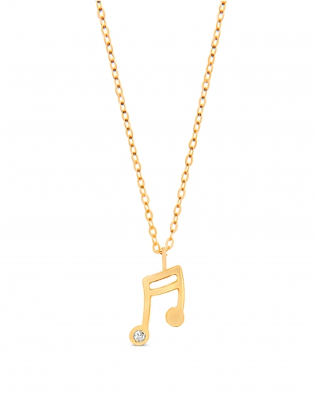 Music Note in 14k yellow gold