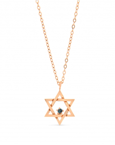 Jewish Star in 14k rose gold