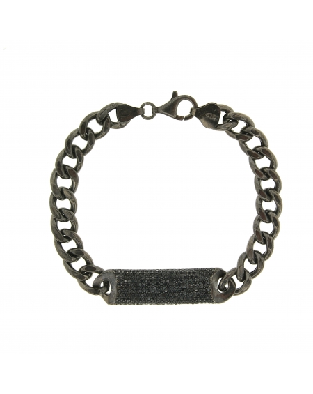 Essential All Black ID Bracelet
