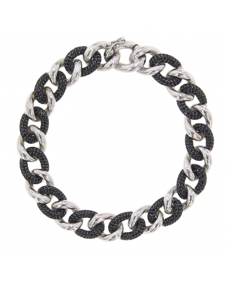 Essential Black & White Link Bracelet