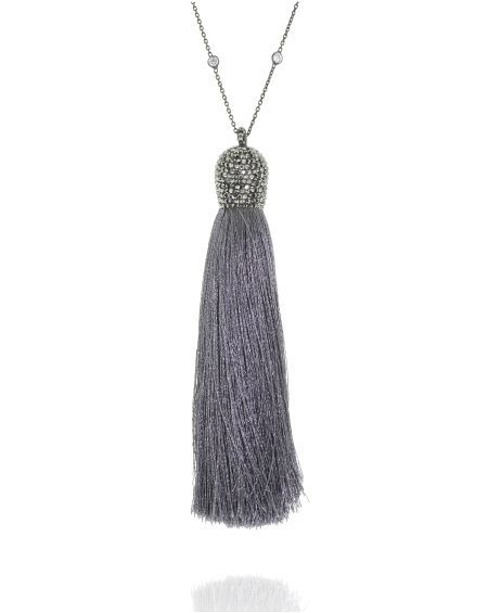 Platinum Tassel Necklace