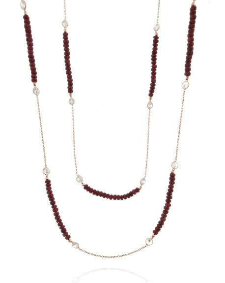 Long Ruby Necklace