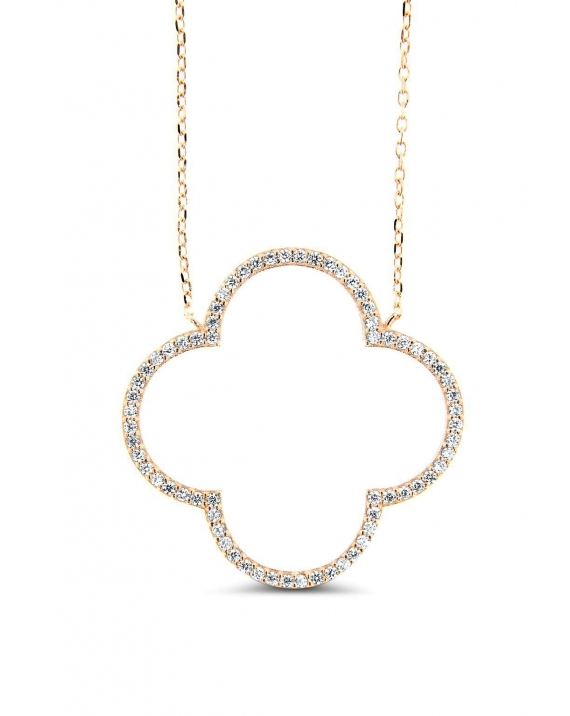 Sterling Silver Open Clover Necklace