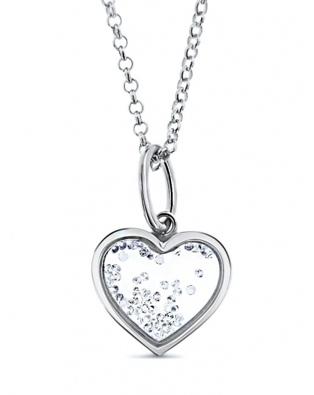 Sterling Silver Small Floating Heart Necklace