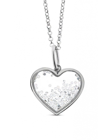 Medium Floating Heart Necklace