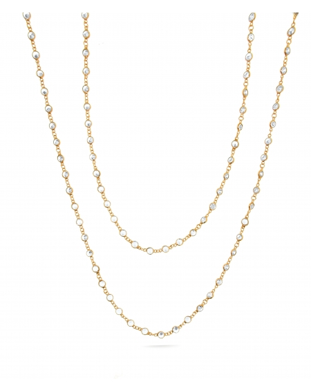 Sterling Silver SM Swarovski Long Necklace