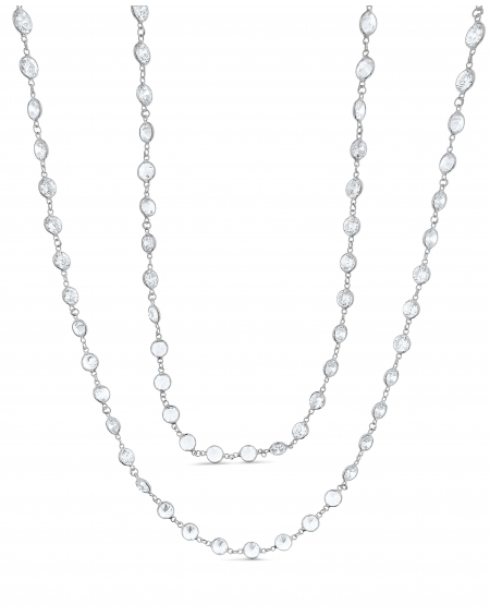 Sterling Silver LG Swarovski Long Necklace