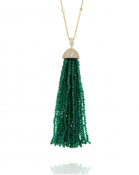 Jade Tassel Necklace