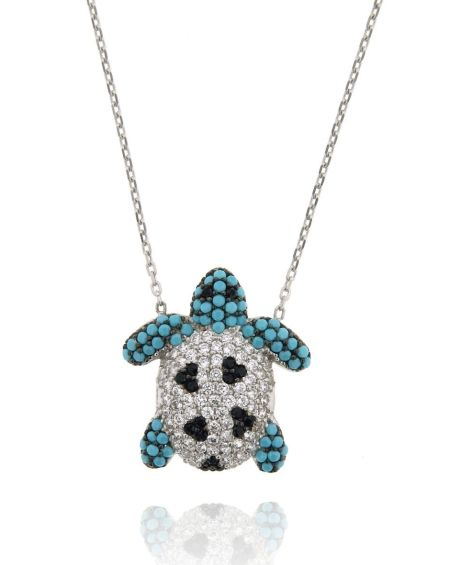 Mo Turquoise Turtle Necklace