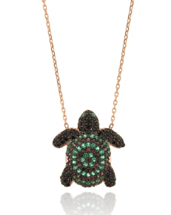 Sterling Silver Slowy Turtle Necklace