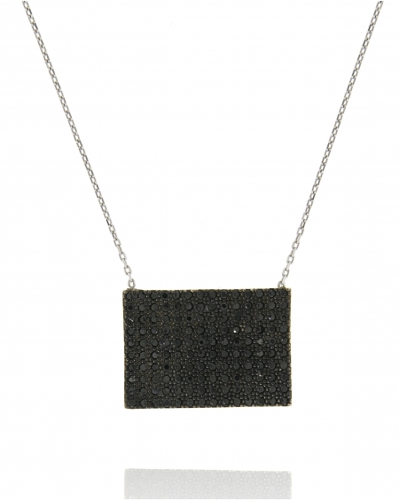 Rectangular White Necklace